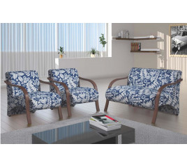 Conjunto Poltronas Decorativas Bruna – Leo Decor Estofados
