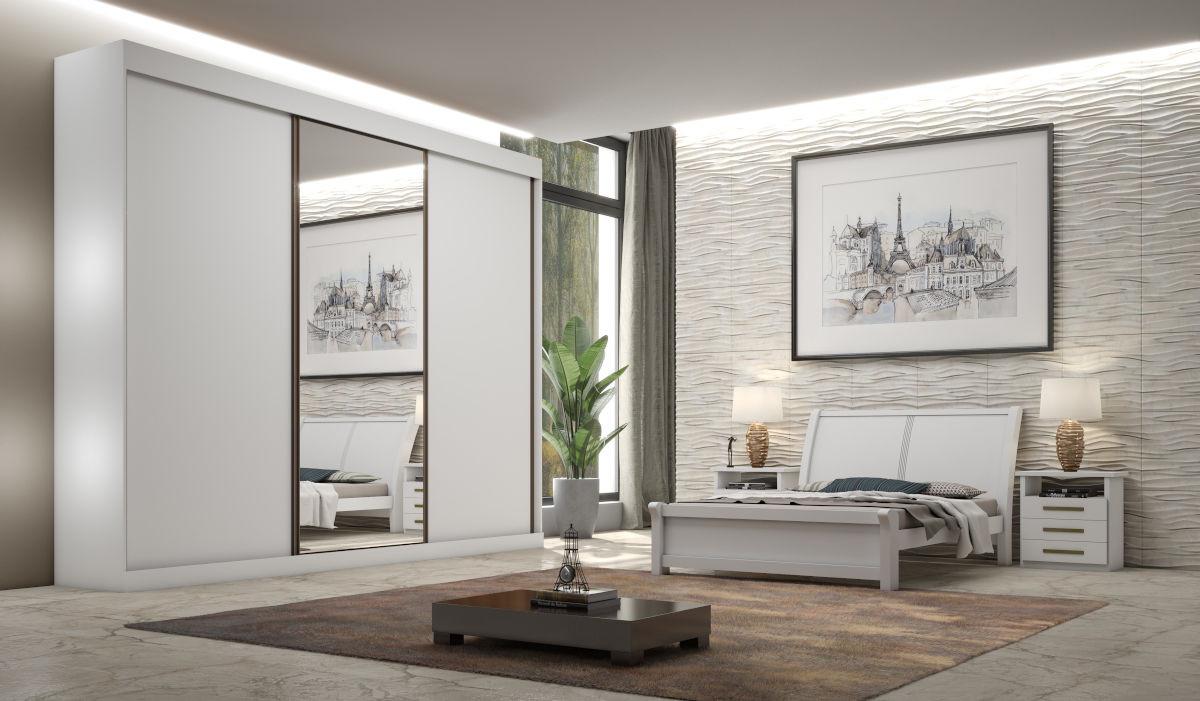 Dormitório Toronto 3 Portas 1 Espelho Central - Bianchi Móveis